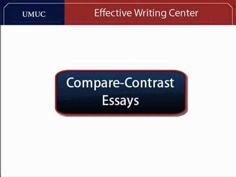 Compare & Contrast Thesis Statements - SFUca